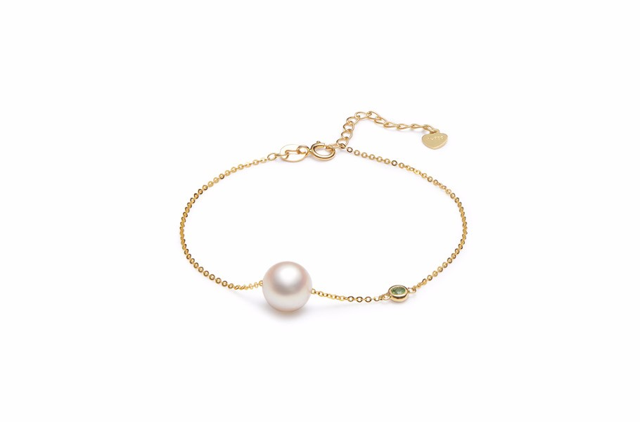 G18K金镶海水珍珠手链